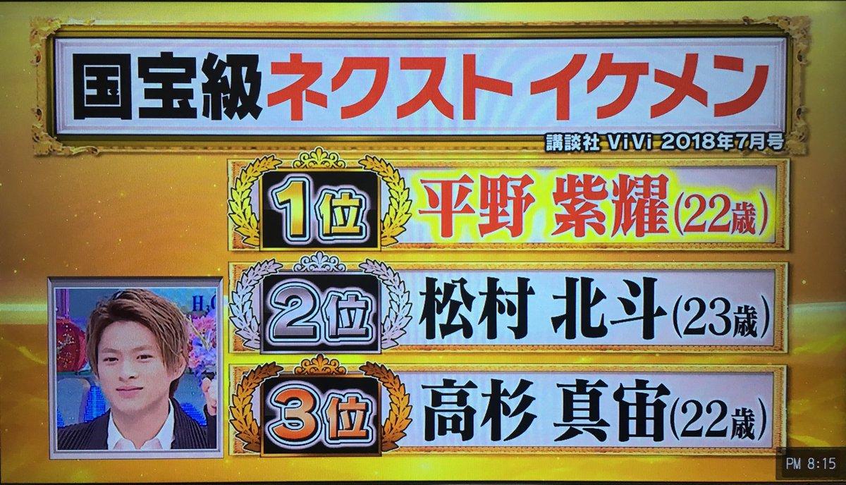 SixTONES・松村北斗が国宝級ネクストイケメン2位で『成功の遺伝史』に登場、1位は平野紫耀!