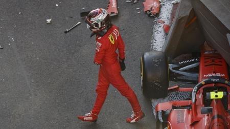 F1アゼルバイジャンGP予選Q2でクラッシュしたルクレールが自責の念
