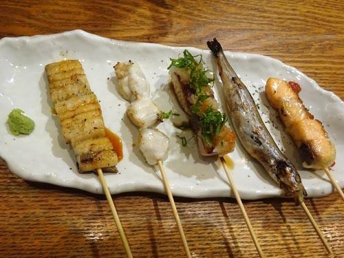 06おすすめ魚串五種盛り合わせ