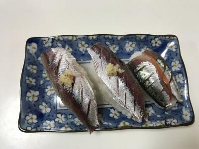 サッパとゴマサバの握り寿司