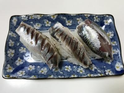 ゴマサバと炙りサッパの握り寿司