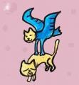 龍猫のコウノトリ