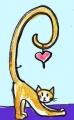 龍猫のしっぽハートのある猫 (2)