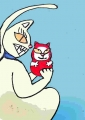 龍猫が達磨猫 (2)