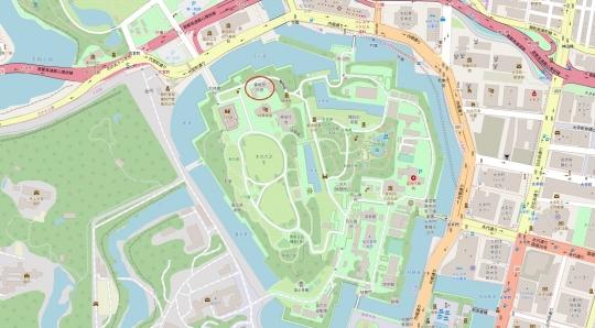 書陵部の地図