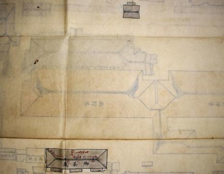対屋周辺屋根図