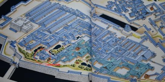 江戸城本丸御殿(弘化二年-1845年-復元体系-日本の城-2-関東-ぎょうせい刊)-文字入り