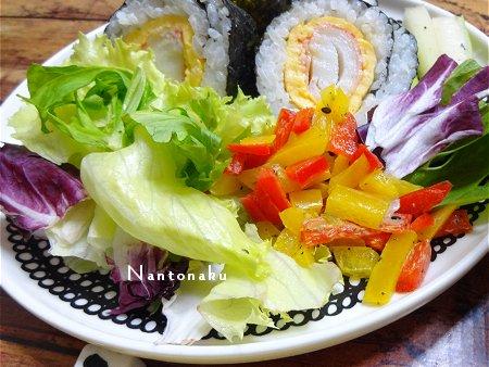 NANTONAKU 06ー18 作り置き カニカマ卵太巻きランチ
