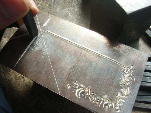 手彫りバックル シルバー925