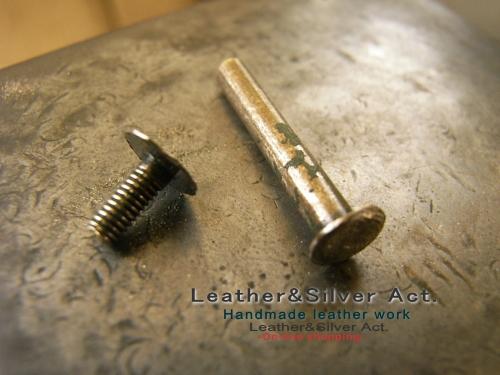 日本刀の目釘、目貫の製作コンチョ 加工