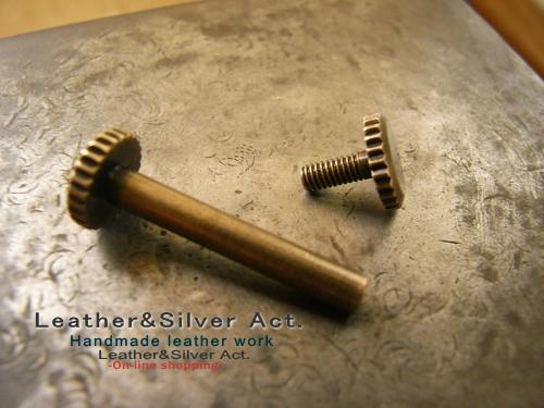 日本刀の目釘、目貫加工