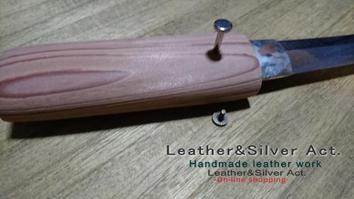 日本刀の目釘、目貫の製作