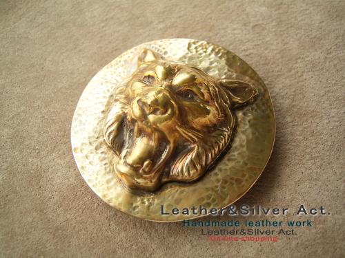 ライオンバックル 真鍮 オーダーメイド