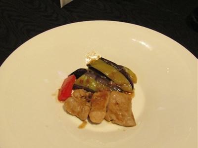 s-豚フィレ肉と茄子のXOソース炒め
