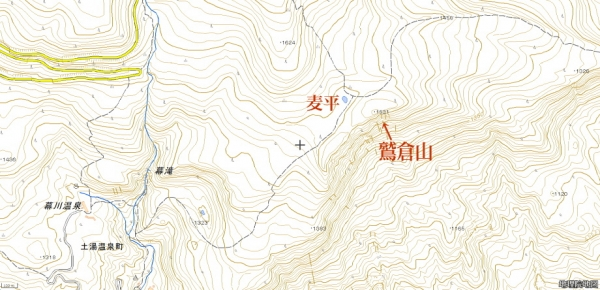 鷲倉山マップ