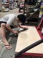 パラオのホームセンター「ACE」で木枠づくり
