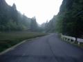 190621早朝の大正池を上る