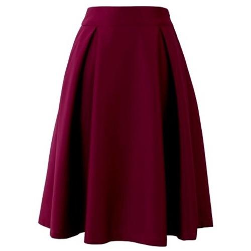 Full A-line Midi Skirt in Violet21