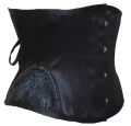Short Torso Embroidery 12 Steel Boned Waist Training Corsets (9)