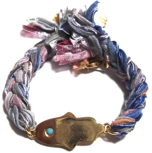 b812 vintage ribbon braided bracelet multi rainbow1 (3)111