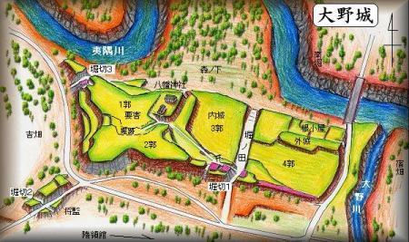 20190309大野城縄張り図