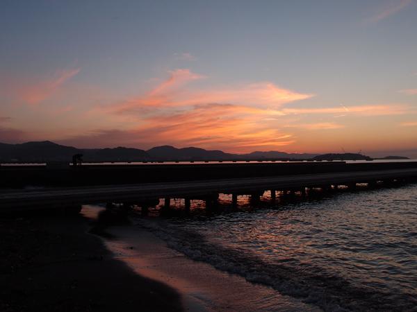 桟橋の夕焼け2
