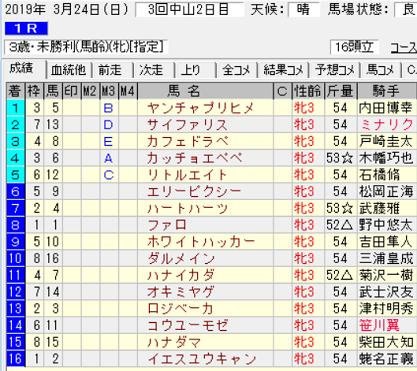 190324中山1R結果