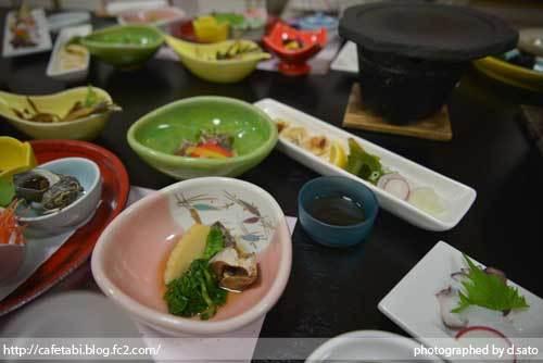 石川県 珠洲市 能登観光ホテル 夕食 和食 和牛 刺身 海鮮料理 ペットOK 美味い飯 05