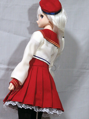 赤ジャンパースカート8