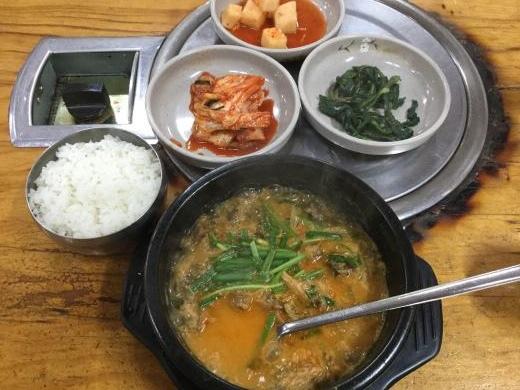 190311龍山元祖カムジャタン昼食