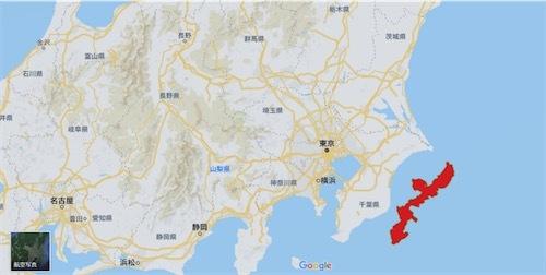 沖縄島と房総半島を比較してみた 20190314094845