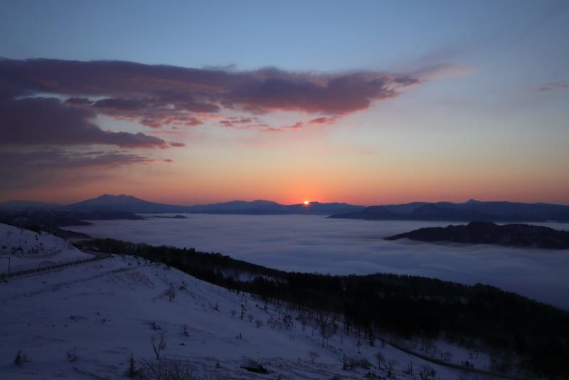 3614 美幌峠からの日の出