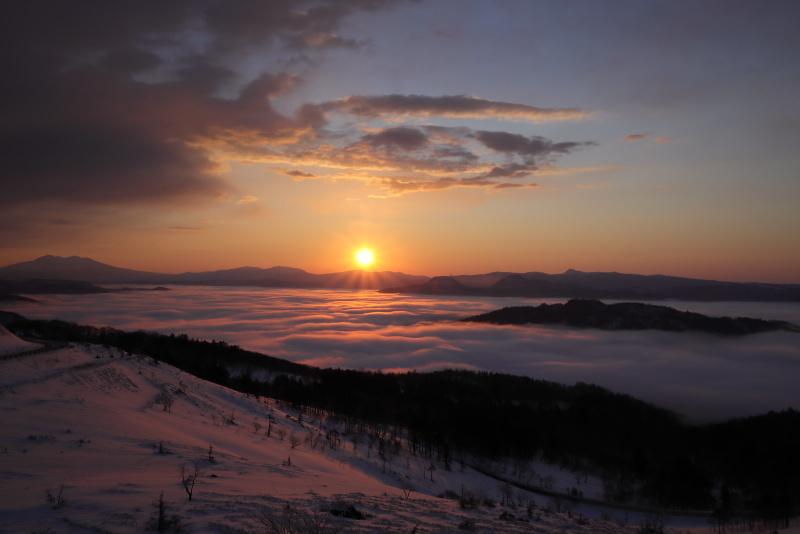 3650 美幌峠からの日の出