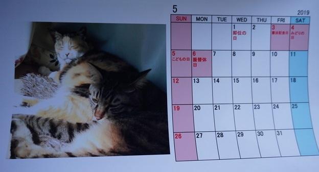 2019.5のカレンダー