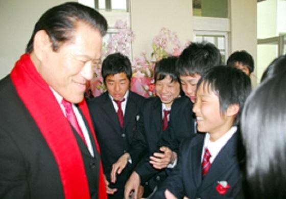 大阪朝高入学式 アントニオ猪木氏出席