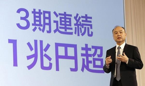ソフトバンクG、営業益最高 2兆円超、トヨタに迫る