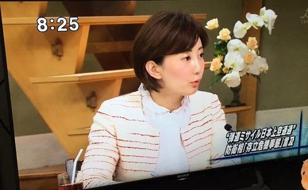 平成29年8月13日、亀石倫子はTBS「サンデーモーニング」では、日本の上空を飛行する北朝鮮のミサイルを迎撃することは憲法違反と主張した!