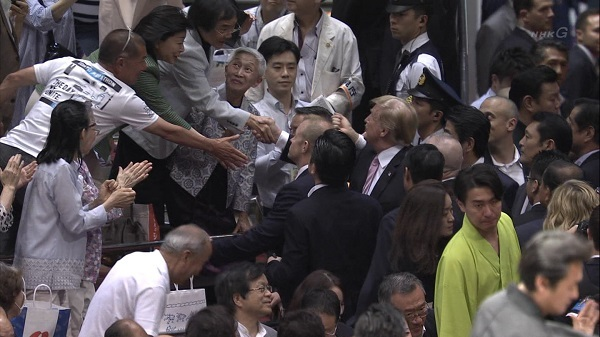 20190526反天連【新天皇・トランプ会談反対デモ】・江川紹子「相撲ファンによるBoo!を祈りたい」→大歓声