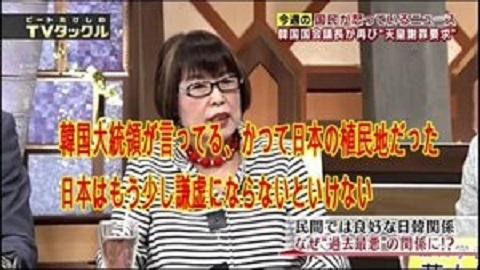 20190408田嶋陽子「韓国の戦争処理逃げてる。人権無視で夫婦同姓。植民地化し名前全部変えさせ財産取った」