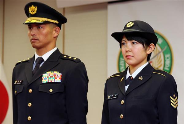 発表された陸上自衛隊の新しい制服(冬服)=2018年3月22日 【外交安保取材】メイド・イン・チャイナで有事対応!? 笑えない陸自の「制服問題」とは…