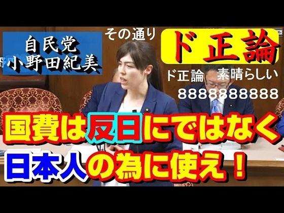 自民 小野田紀美「国費は日本人の為に使用しろ!」「日本人の方が優遇されないのはおかしい!」国費外国留学生制度 最新の面白い国会中継