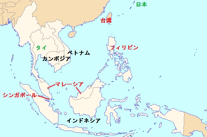 東南アジア_Fleramo×WV地図