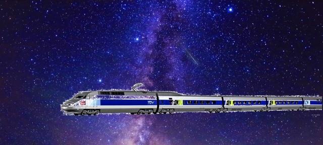 天の川と鉄道