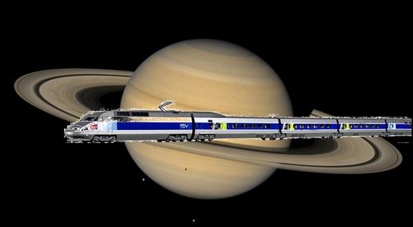 土星と鉄道