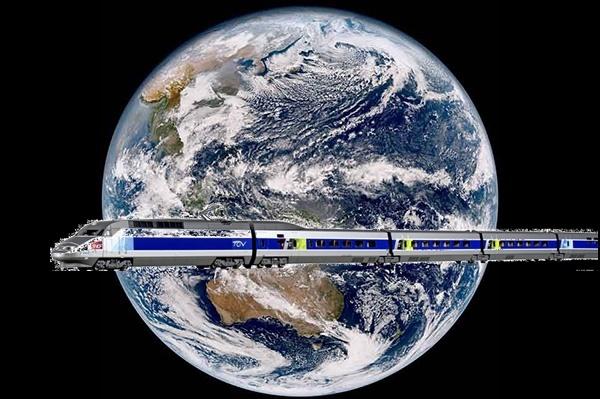 地球と鉄道1