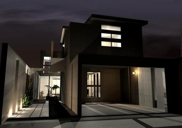京都,滋賀,注文住宅,設計,施工,一級建築士事務所,モダンなデザインの家,デザイナーズ住宅