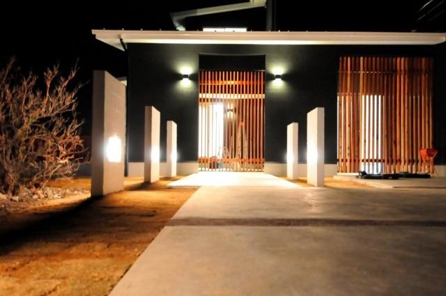 滋賀県 米原市 一級建築士 和風モダン 注文住宅 モダン住宅 木製格子 デザイナーズ住宅 高級住宅