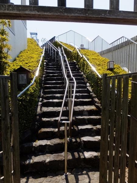 芭蕉庵史跡展望庭園階段
