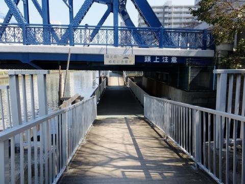 小名木川西深川橋の浮橋