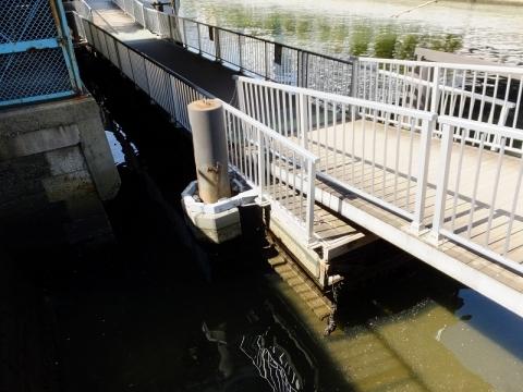 小名木川西深川橋下の浮橋